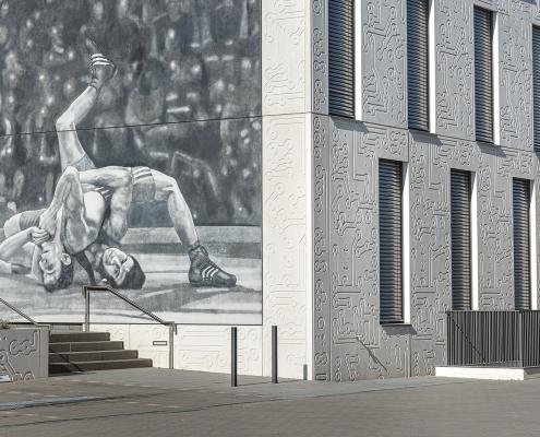 Mannheim Eastsite VII Fassadendetails, Hermsheimer Straße