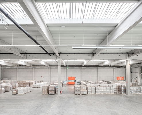 BGS, Bruchsal - Innenansicht der neuen Logistikhalle